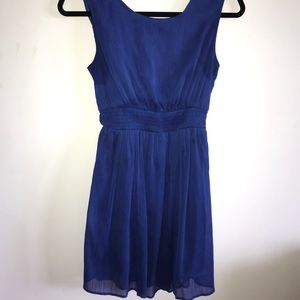 Blue tie back dress